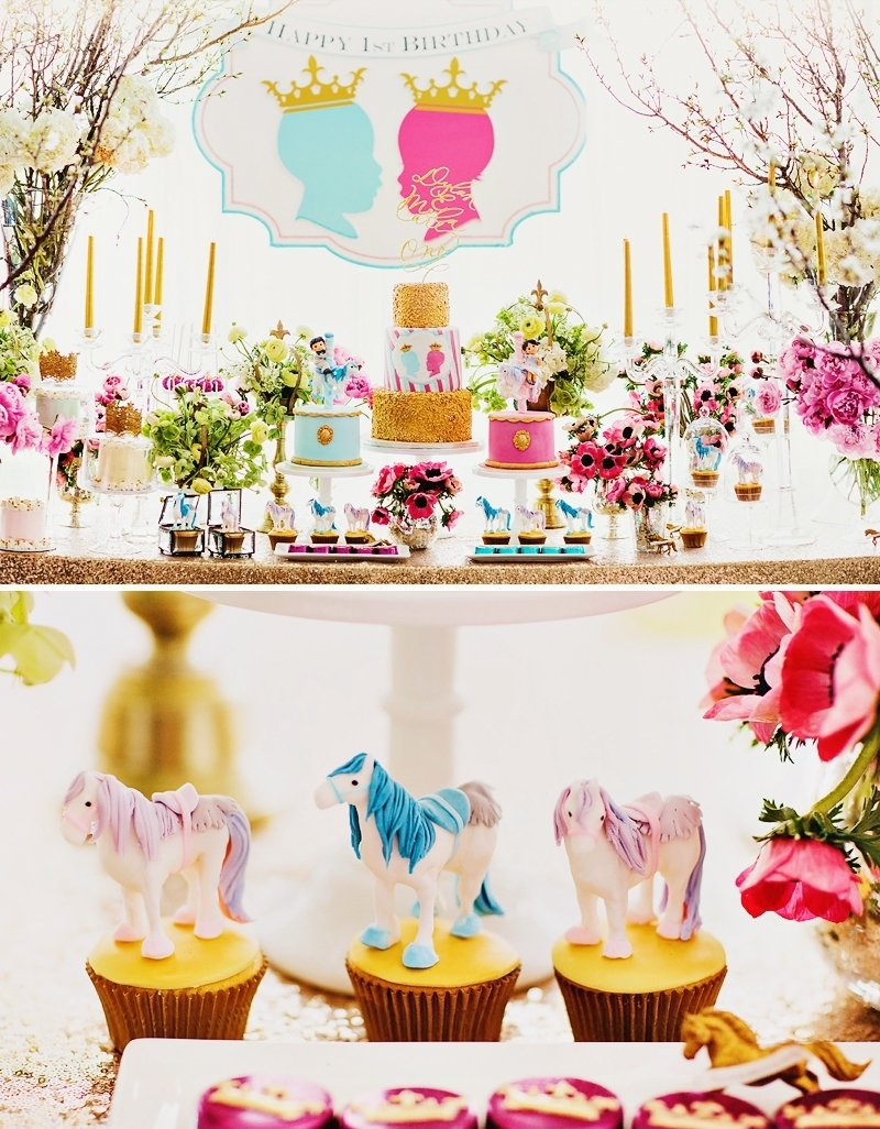 10 Lovable Twins First Birthday Party Ideas dreamy sophisticated royal first birthday for twins hostess