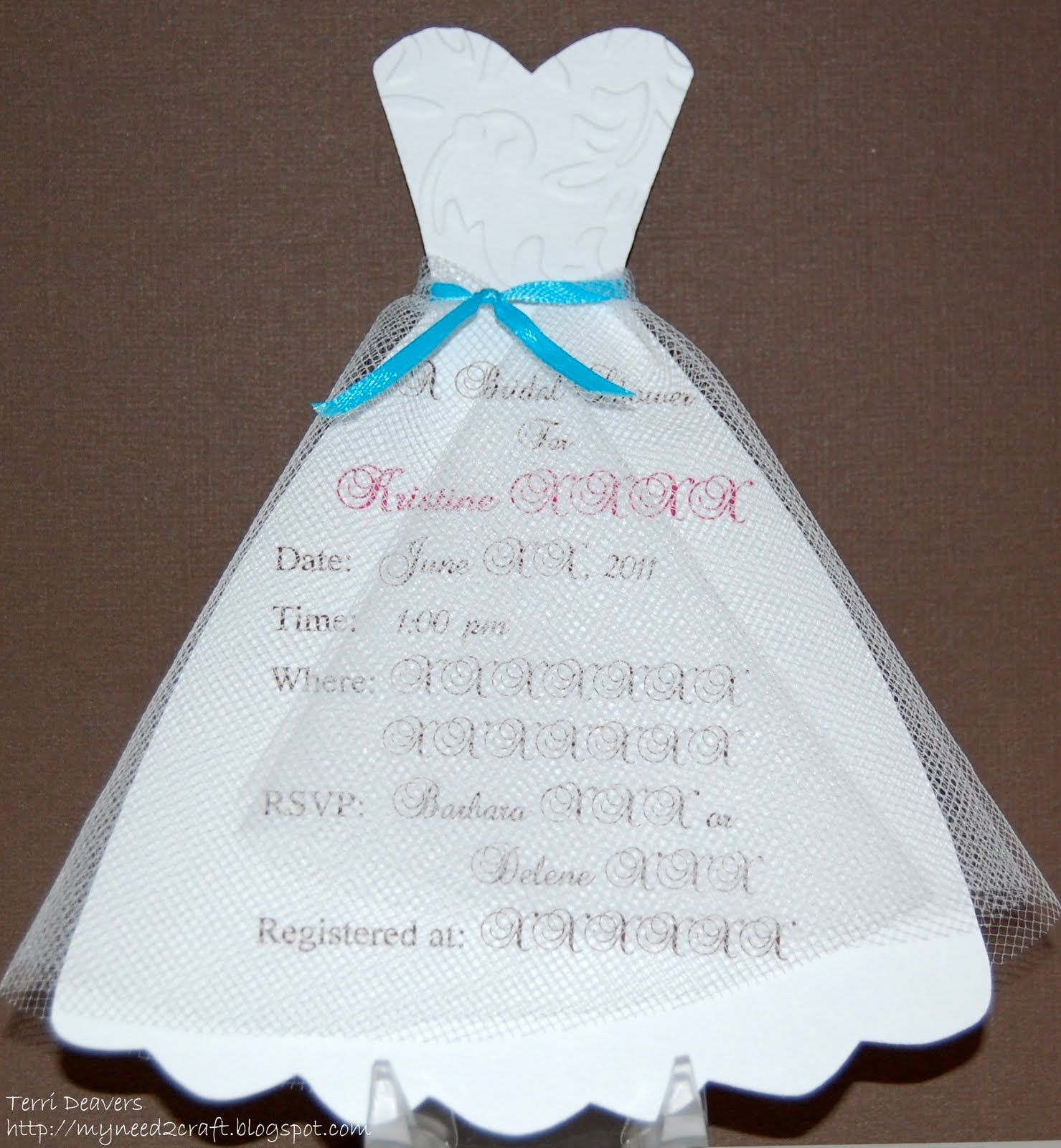 10 Most Recommended Diy Bridal Shower Invitations Ideas dress template myneed2craft bridal shower invitations cards