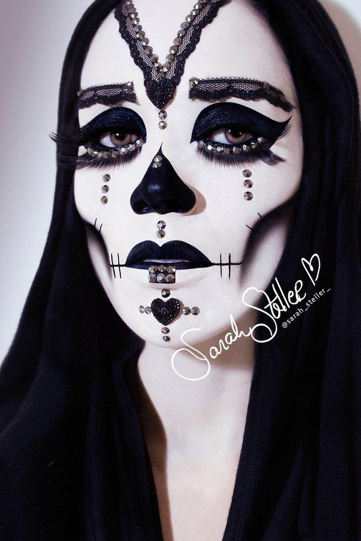10 Perfect Black And White Makeup Ideas drop dead gorgeous earth monster world e298a0dia de los muertos 2021