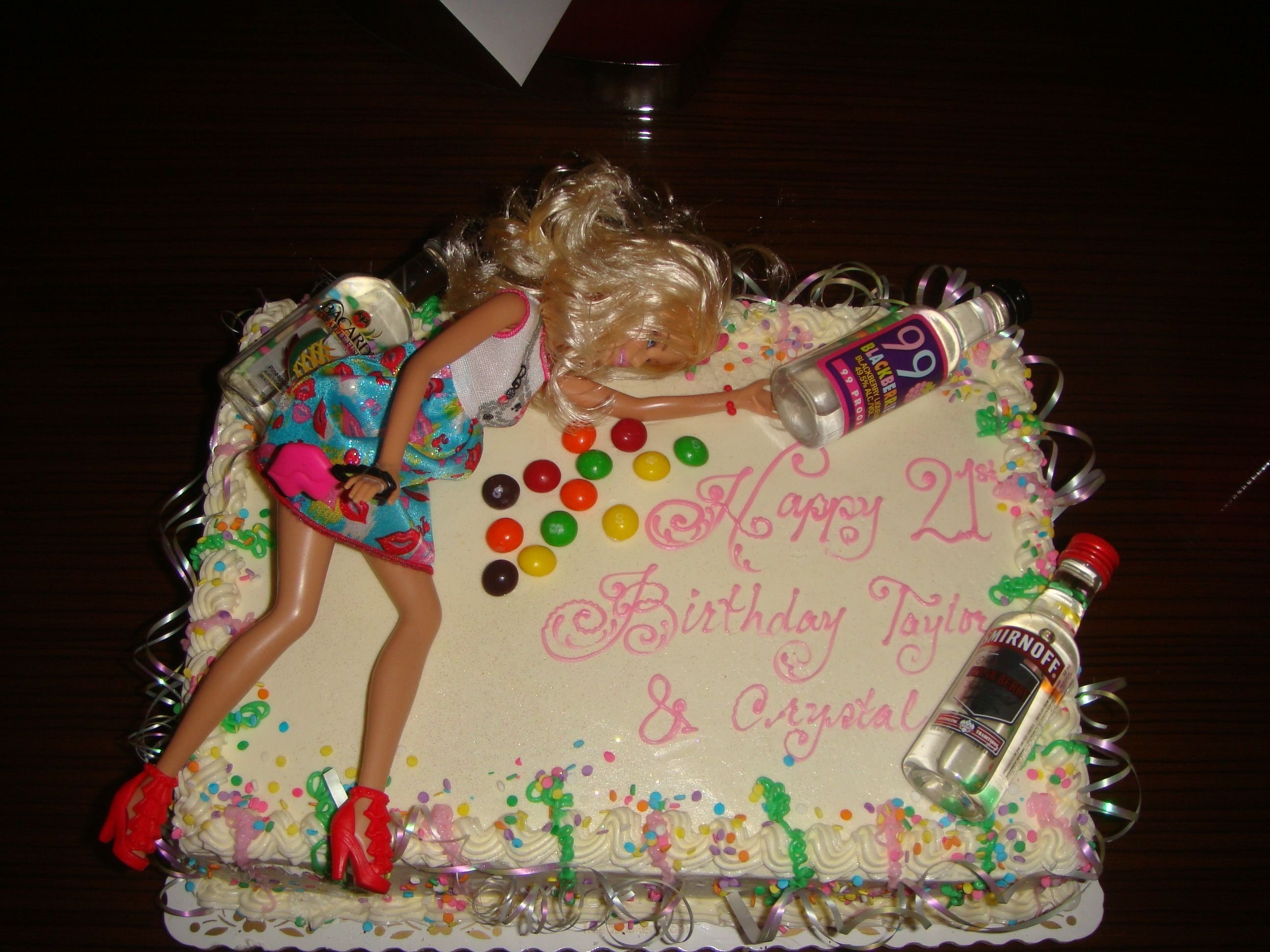 10 Lovely Gift Ideas For 21 Year Old Male Drunk Barbie 21st Birthday Cake Funny