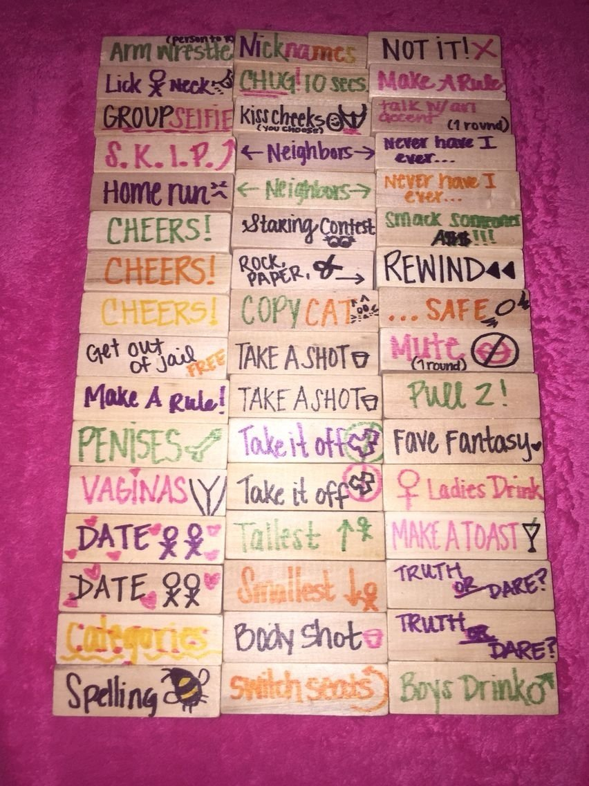 10 Perfect Truth Or Dare Jenga Ideas drunk jenga for my friends i game nights pinterest drunk 2021