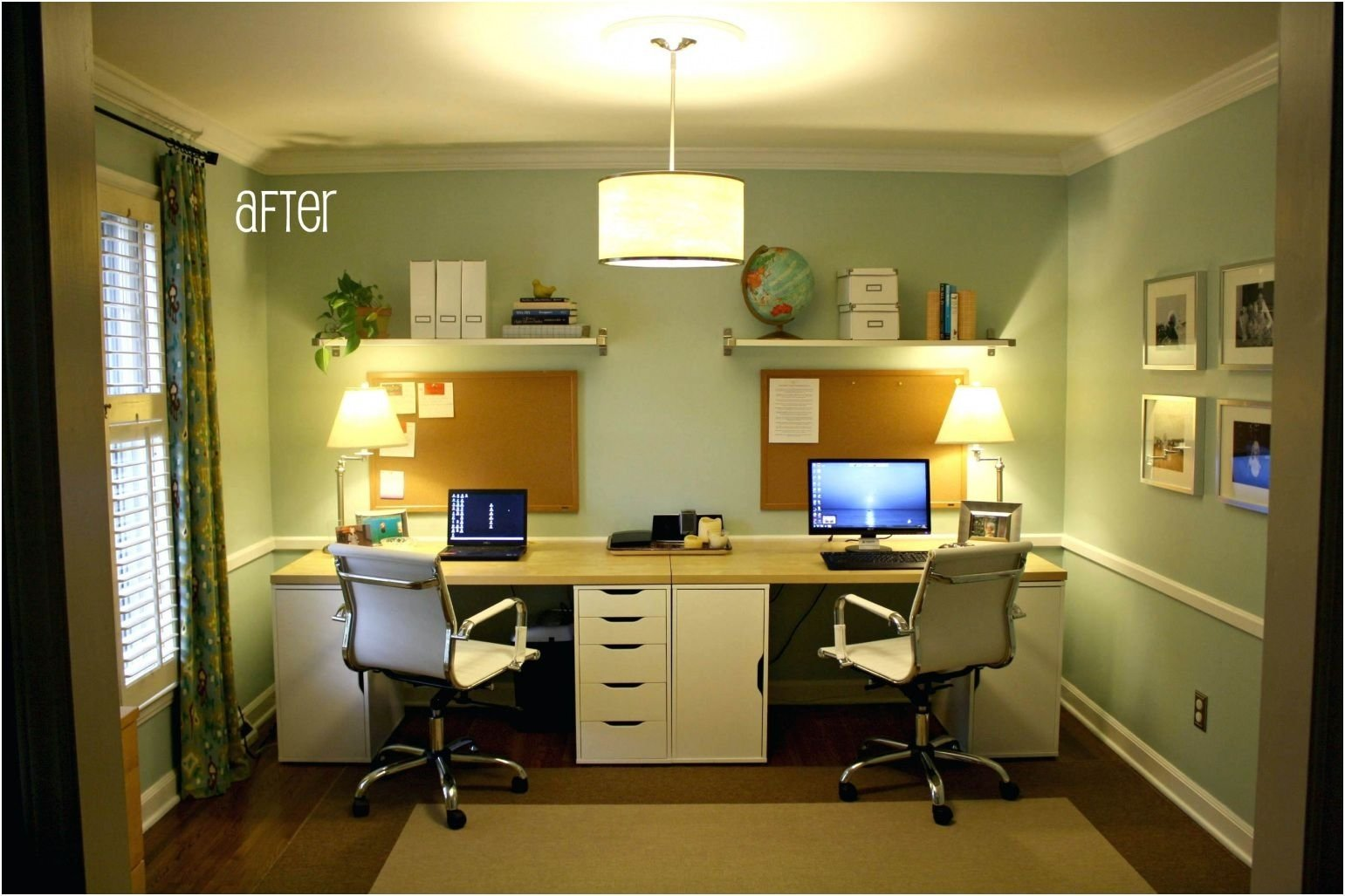 10 Unique Home Office Ideas On A Budget dual desk home office on a budget as well as modern dual desk home 2020