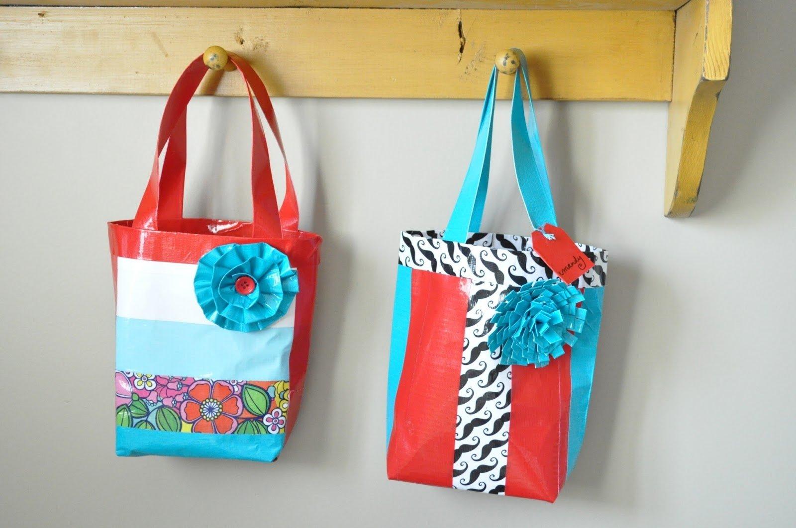 10 Attractive Duct Tape Ideas For Girls duck tape bag tutorial girls camp craft little birdie secrets 2020