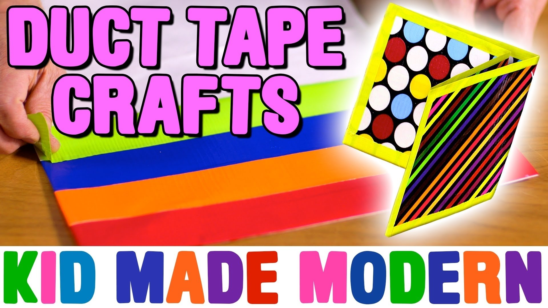 10 Spectacular Duct Tape Ideas For Kids duct tape crafts how to make fun wallets bags with todd oldham 2020