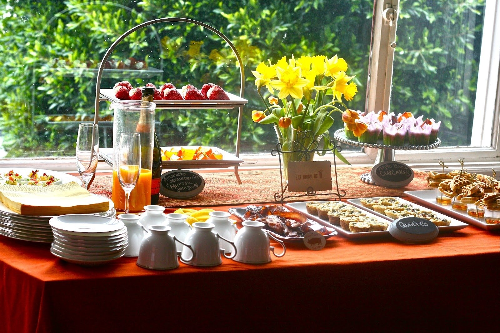 10 Gorgeous Brunch Ideas For Bridal Shower e is for eat drink be bloody mary bacon bridal shower 2020