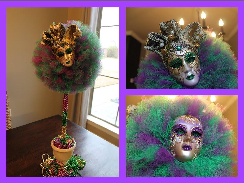 10 Attractive Homemade Mardi Gras Costume Ideas e29995diymardi gras tulle topiary ball decorating idea 2015 youtube