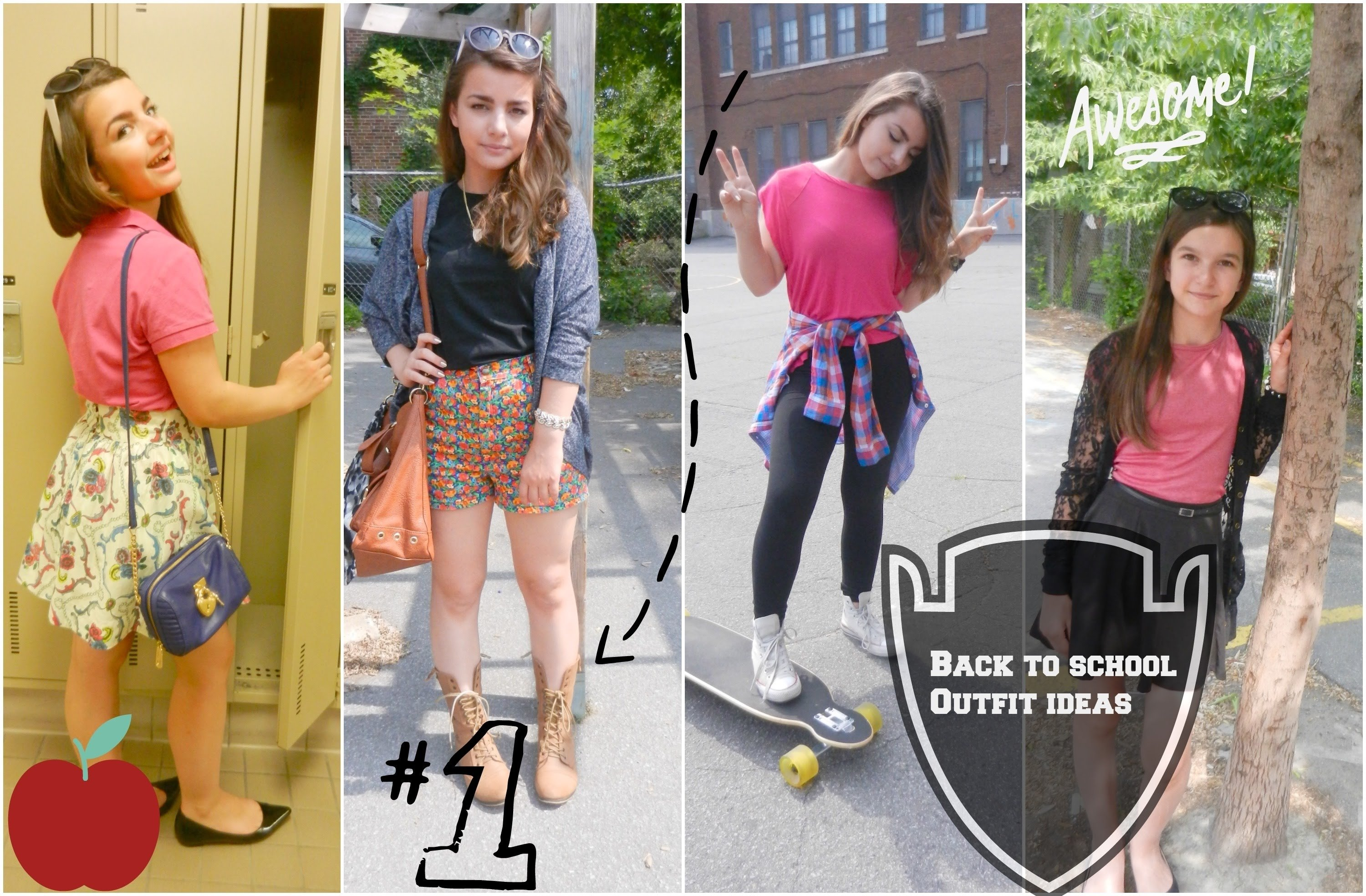 10 Awesome Cute Outfit Ideas For Middle School e29c90back to school outfit ideas 2014 2015e29c8eft my sister youtube 2 2020
