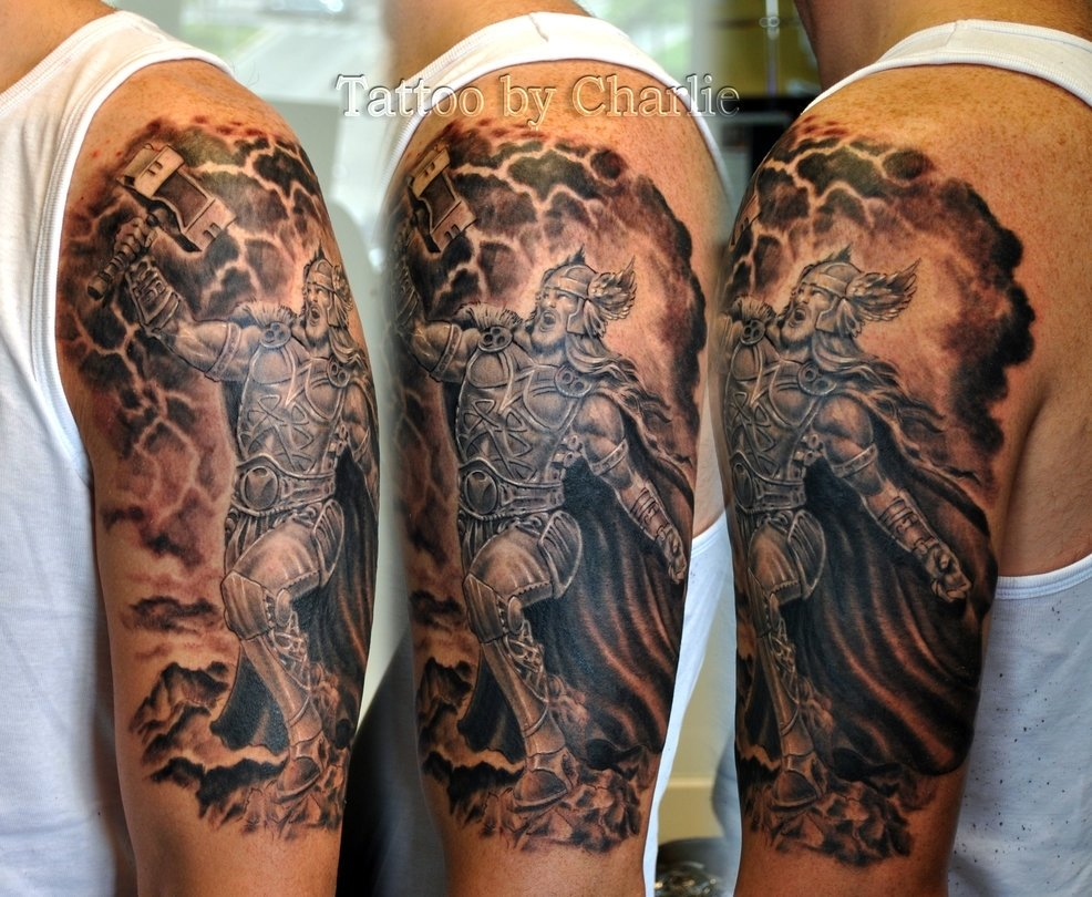 10 Cute Tattoos Sleeves Ideas For Black Guys e29cbf tattoos e29cbf celtic e29cbf norse e29cbf thor tattoogettattoo 2020