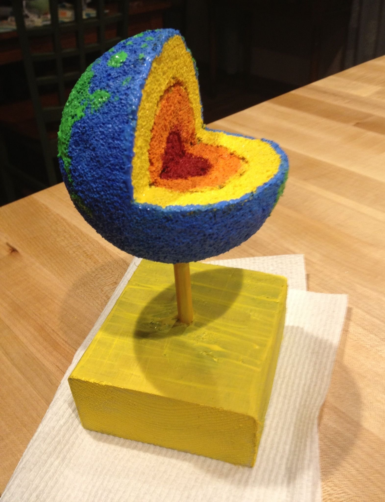 10 Famous Layers Of The Earth Project Ideas earth layer project using styrofoam ball acrylic paint pencil and