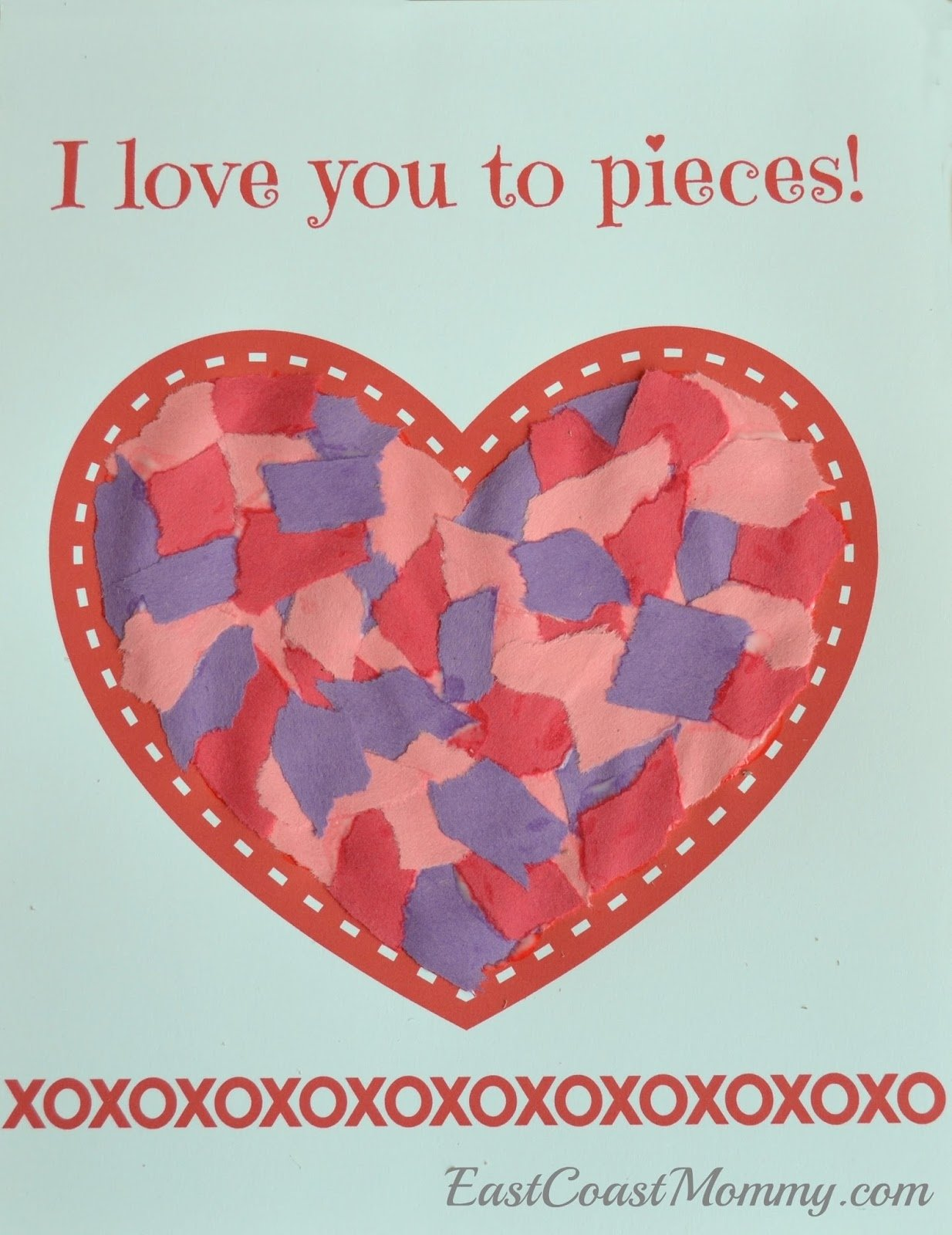 east coast mommy: simple valentine's day craft for toddlers and