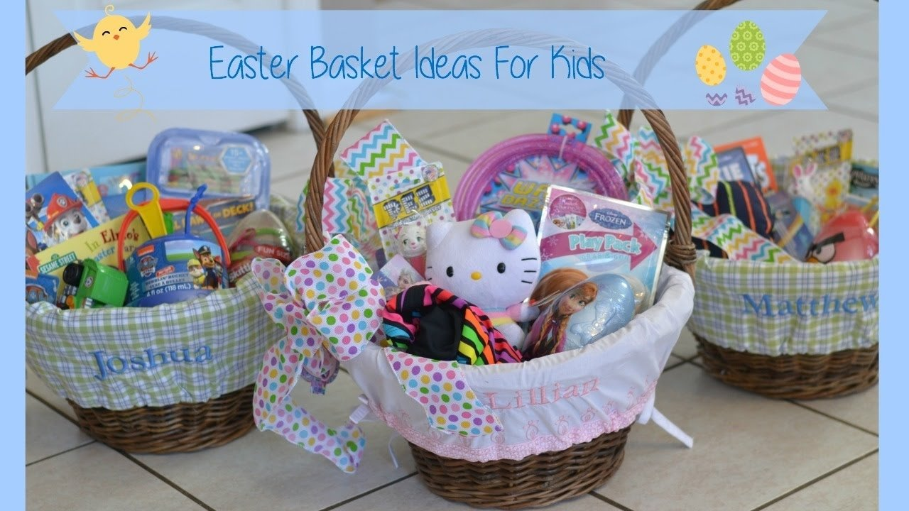 easter basket ideas for kids - youtube