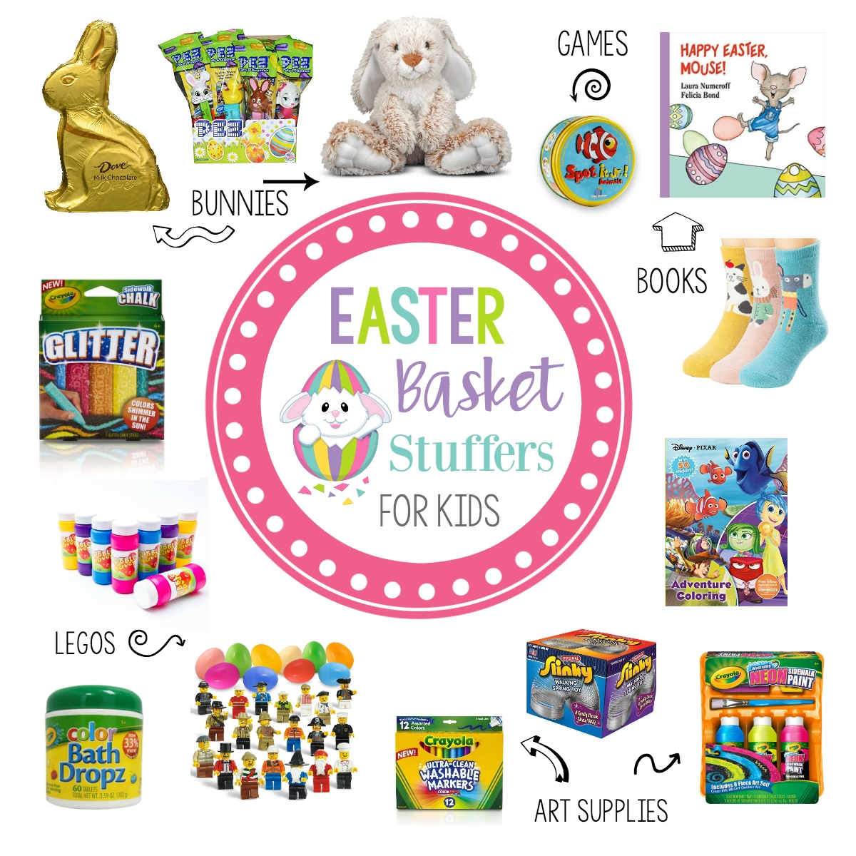 10 Ideal Ideas For Easter Basket Stuffers easter basket stuffers ideas for kids under 10 fun squared 2020