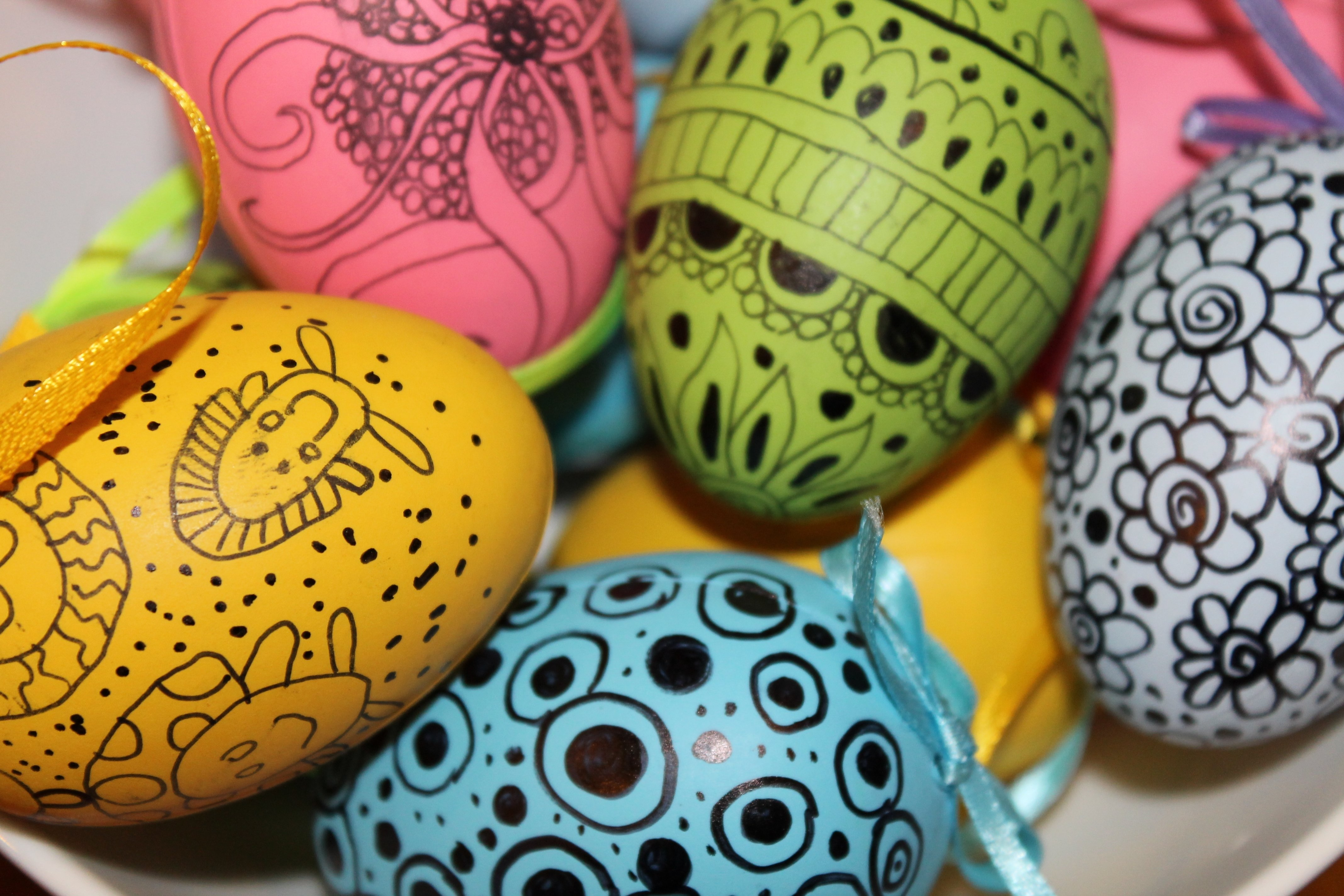 10 Cute Cool Easter Egg Decorating Ideas easter egg decorating idea 2 doodled eggs 2020