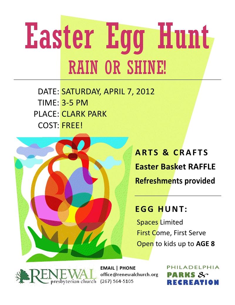 easter egg hunt on sat, april 7 at clark park   west philly local