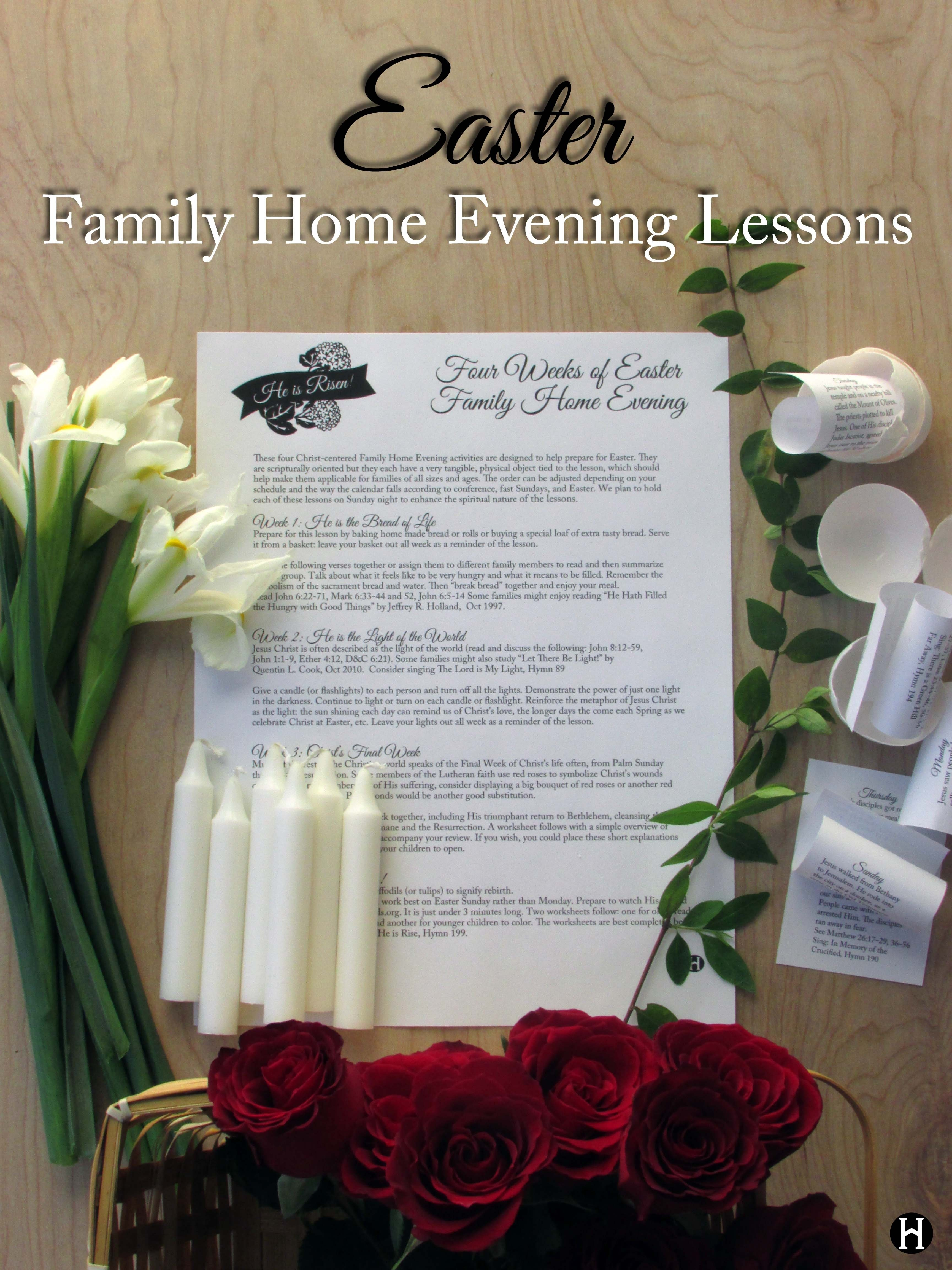 10 Unique Family Home Evening Lesson Ideas easter family home evening lessons the mormon home