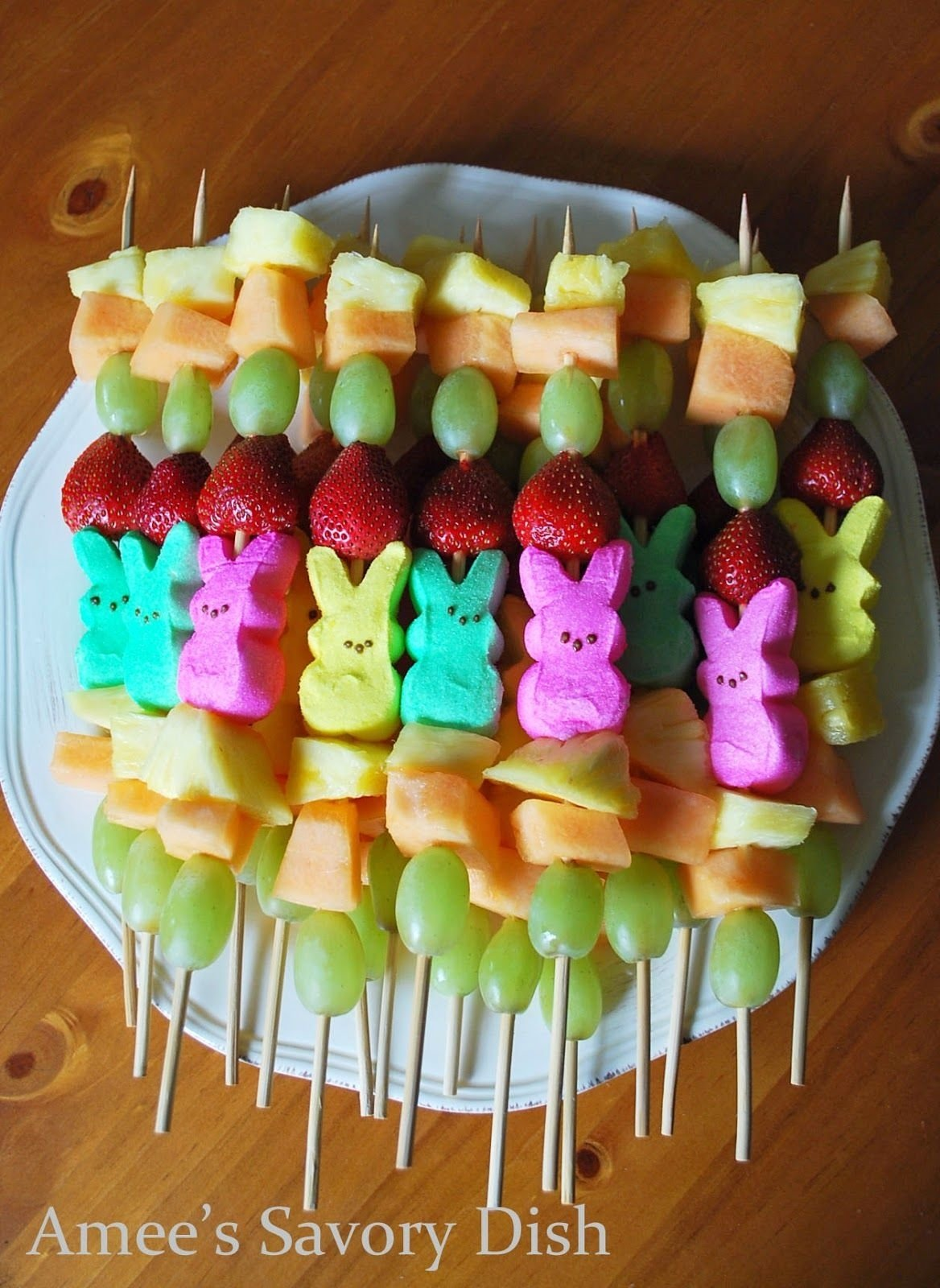 10 Spectacular Easter Party Ideas For Kids easter peep fruit kabobs for a healthier treat fruit kabobs 2020
