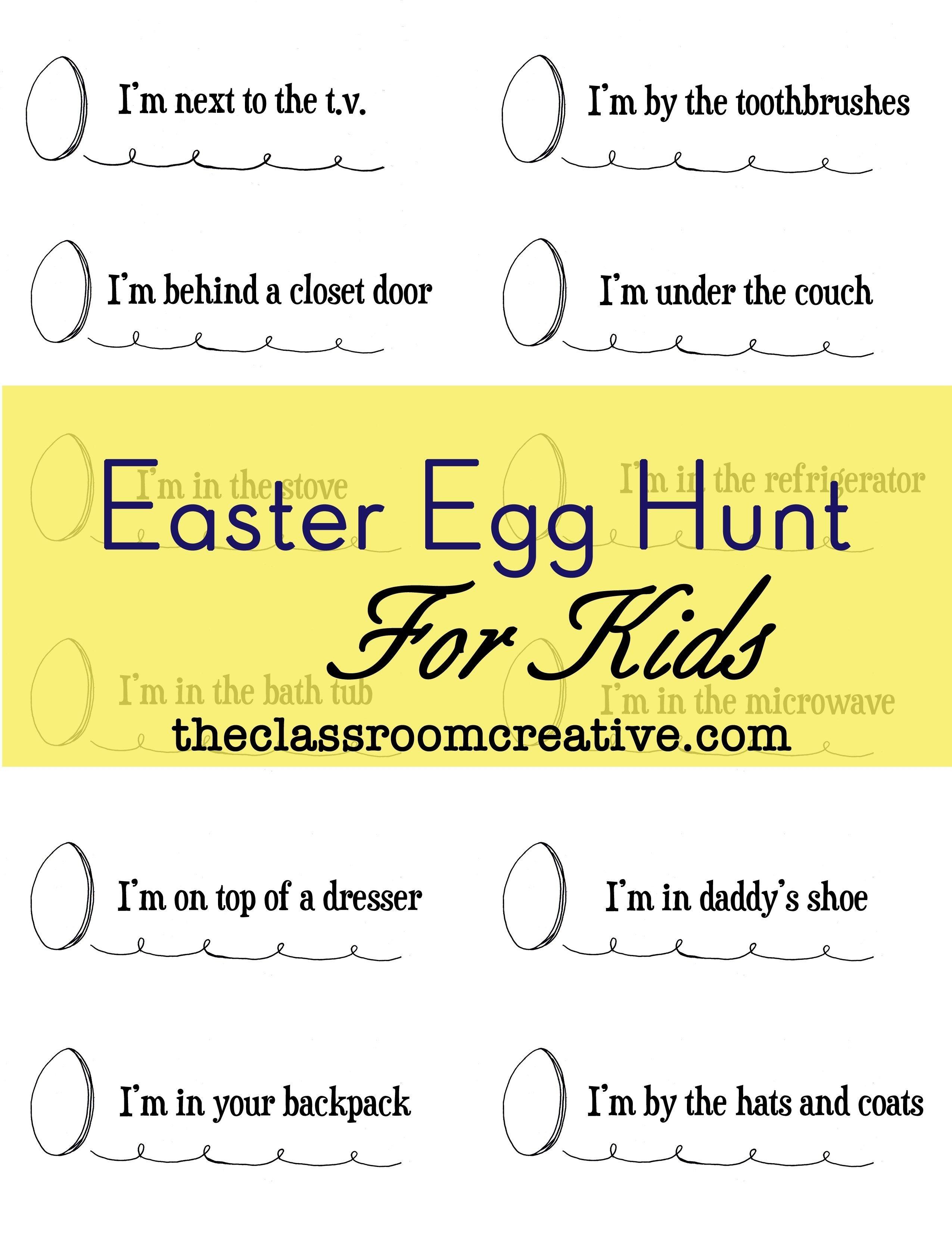 easter scavenger hunt for kids | easter | pinterest | easter