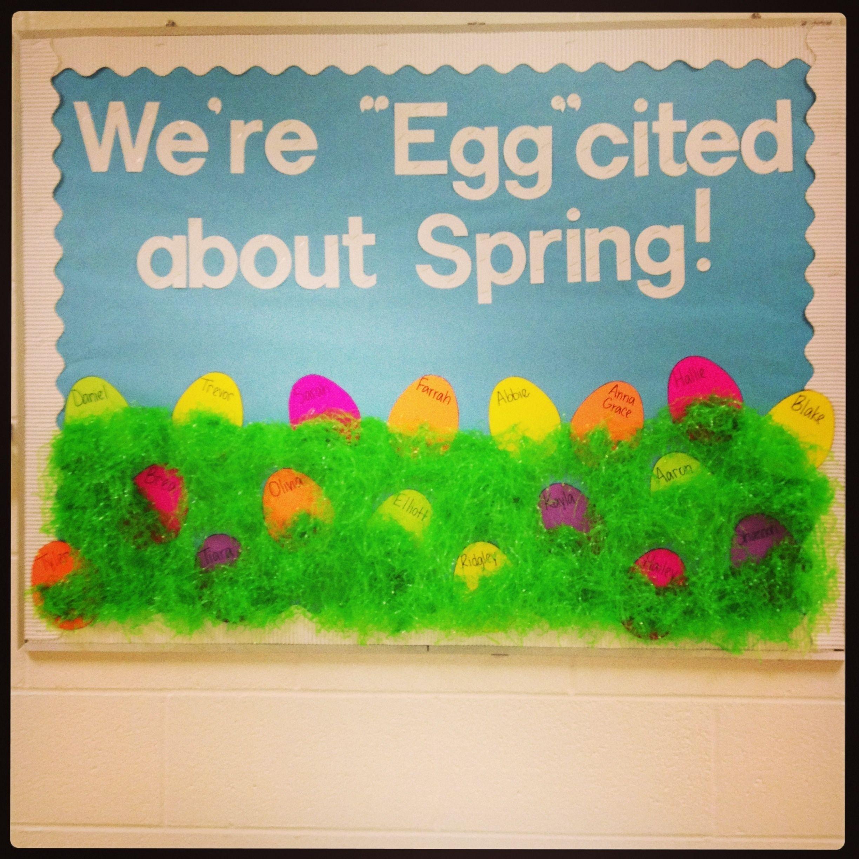 10 Lovable Preschool Spring Bulletin Board Ideas easter spring bulletin board and the showcase board could say 2020