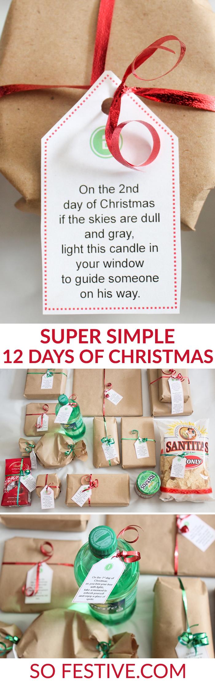 10 Stylish 12 Days Of Christmas Ideas For Boyfriend easy 12 days of christmas idea printables dollar stores poem 2