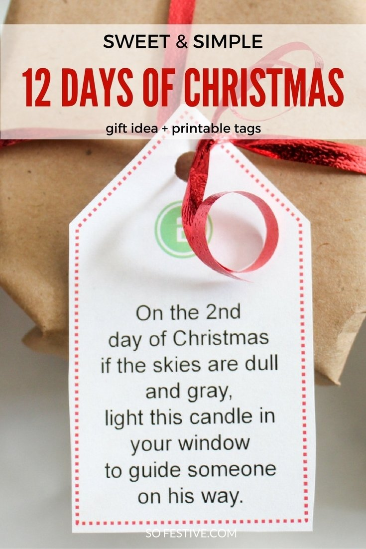 10 Spectacular 12 Days Of Christmas Gifts Ideas easy 12 days of christmas idea printables so festive