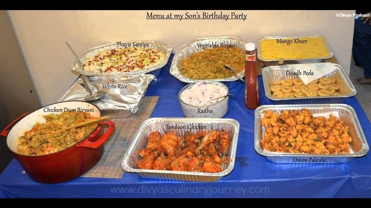 10 Famous Birthday Party Menu Ideas For Adults easy 1st birthday party food ideas youtube 6 2020