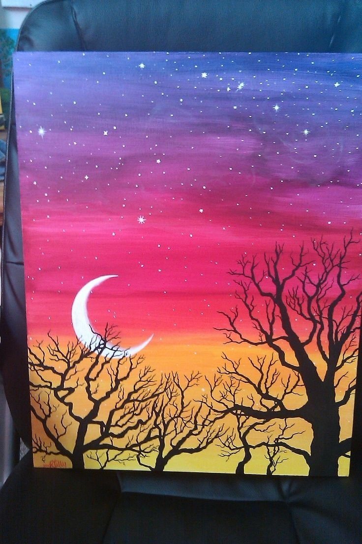 easy acrylic painting ideas trees - google search | canvas