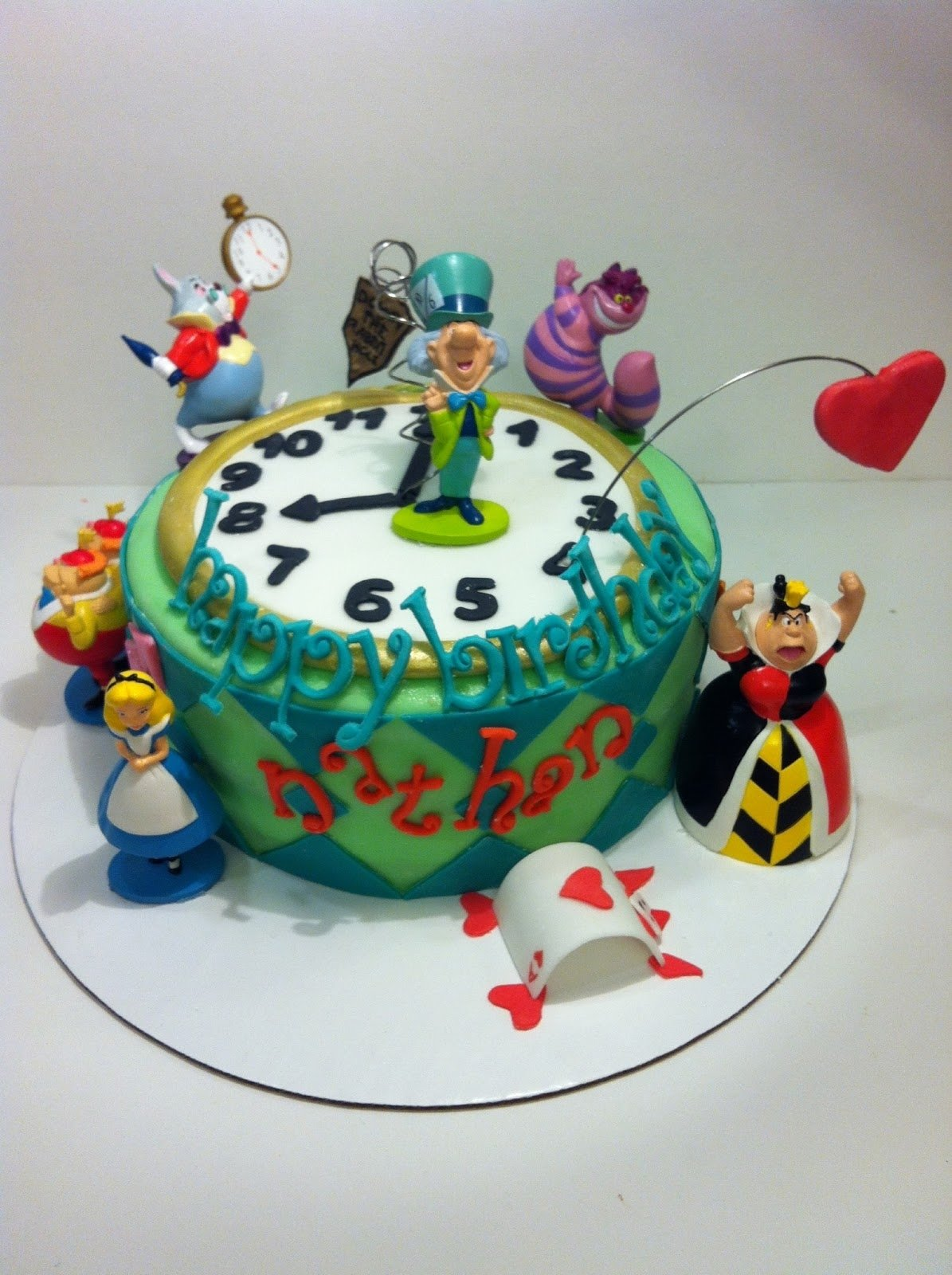 easy alice in wonderland cakes | it's not all edible, but this way
