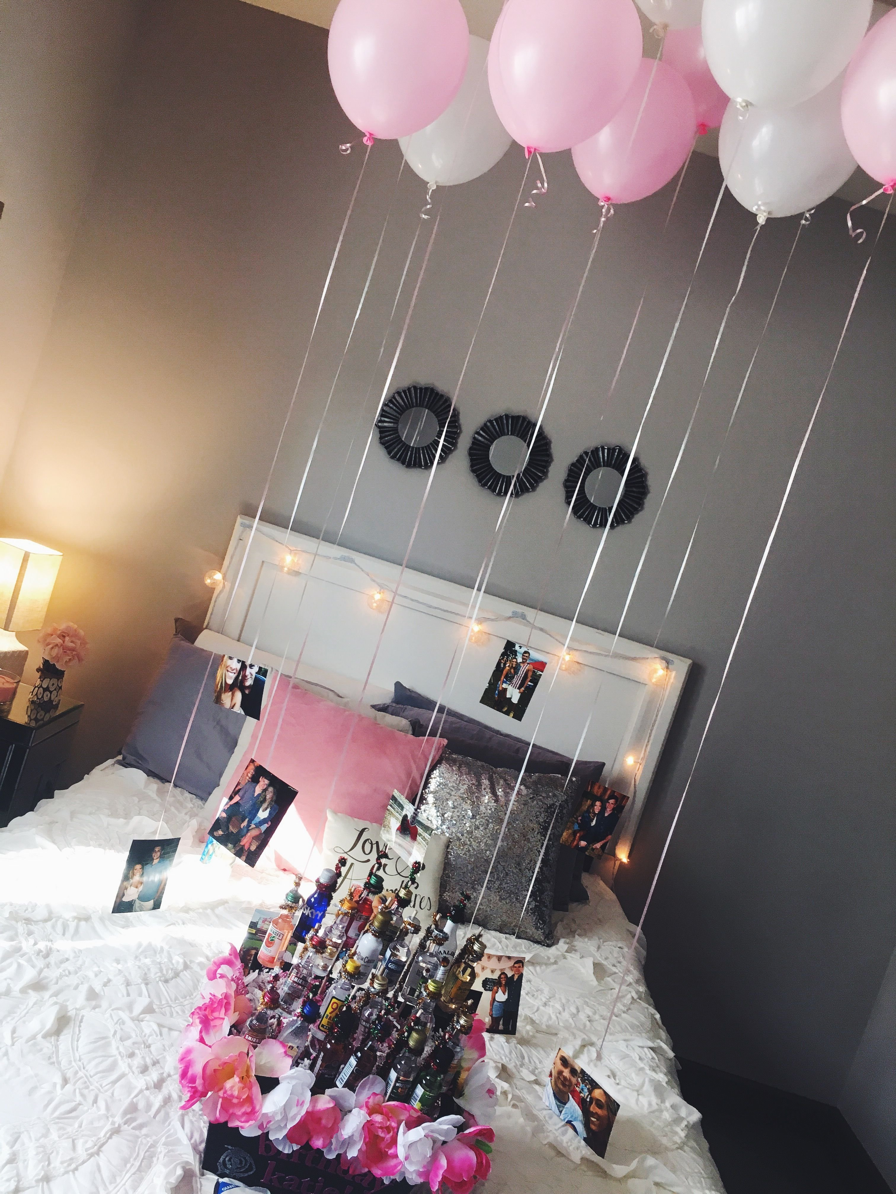 10 Fashionable Birthday Surprise Ideas For Girlfriend easy and cute decorations for a friend or girlfriends 21st birthday 8 2021