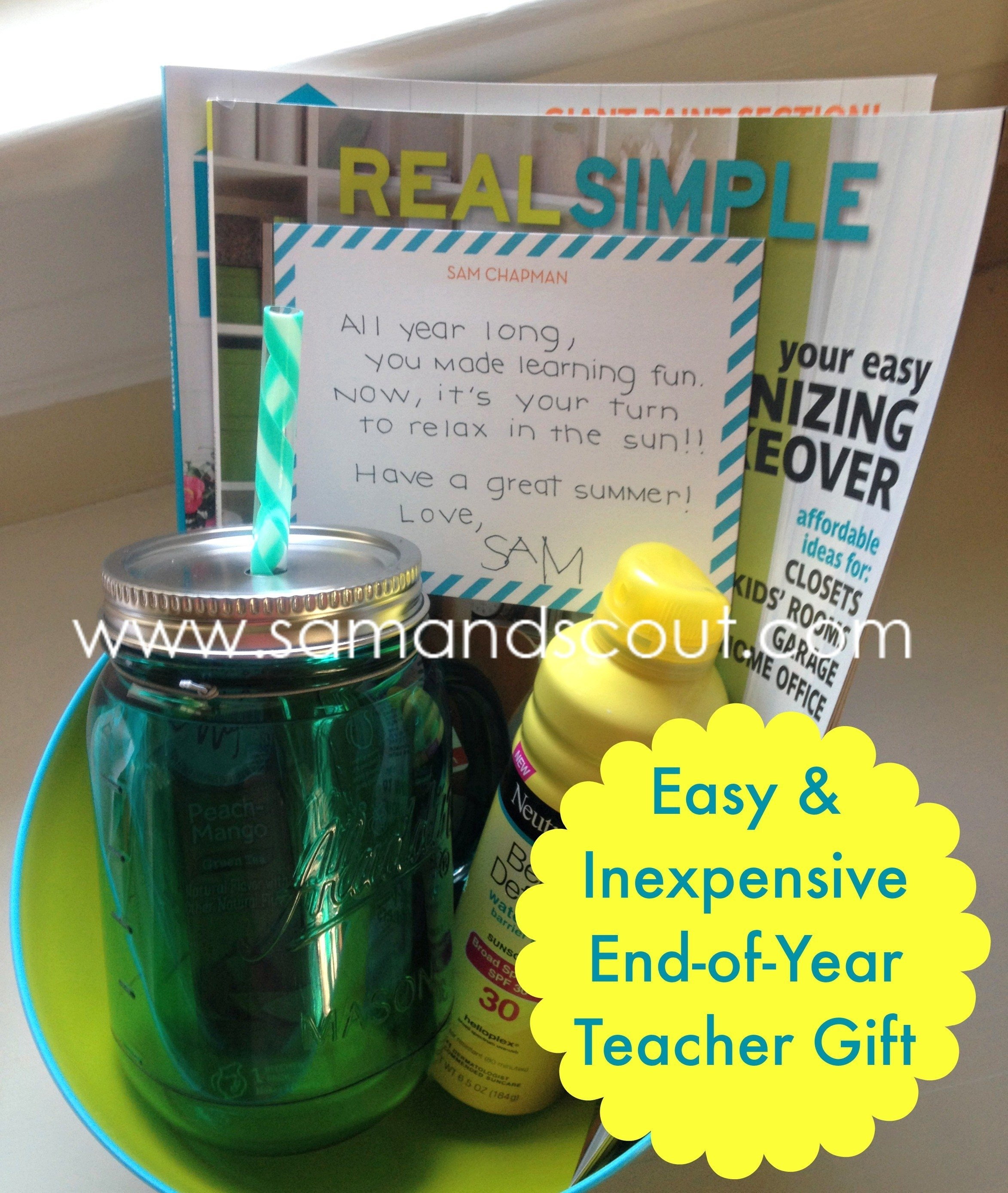 10 Fashionable Ideas For End Of Year Teacher Gifts easy and inexpensive end of year teacher gift teaching sam and scout 6