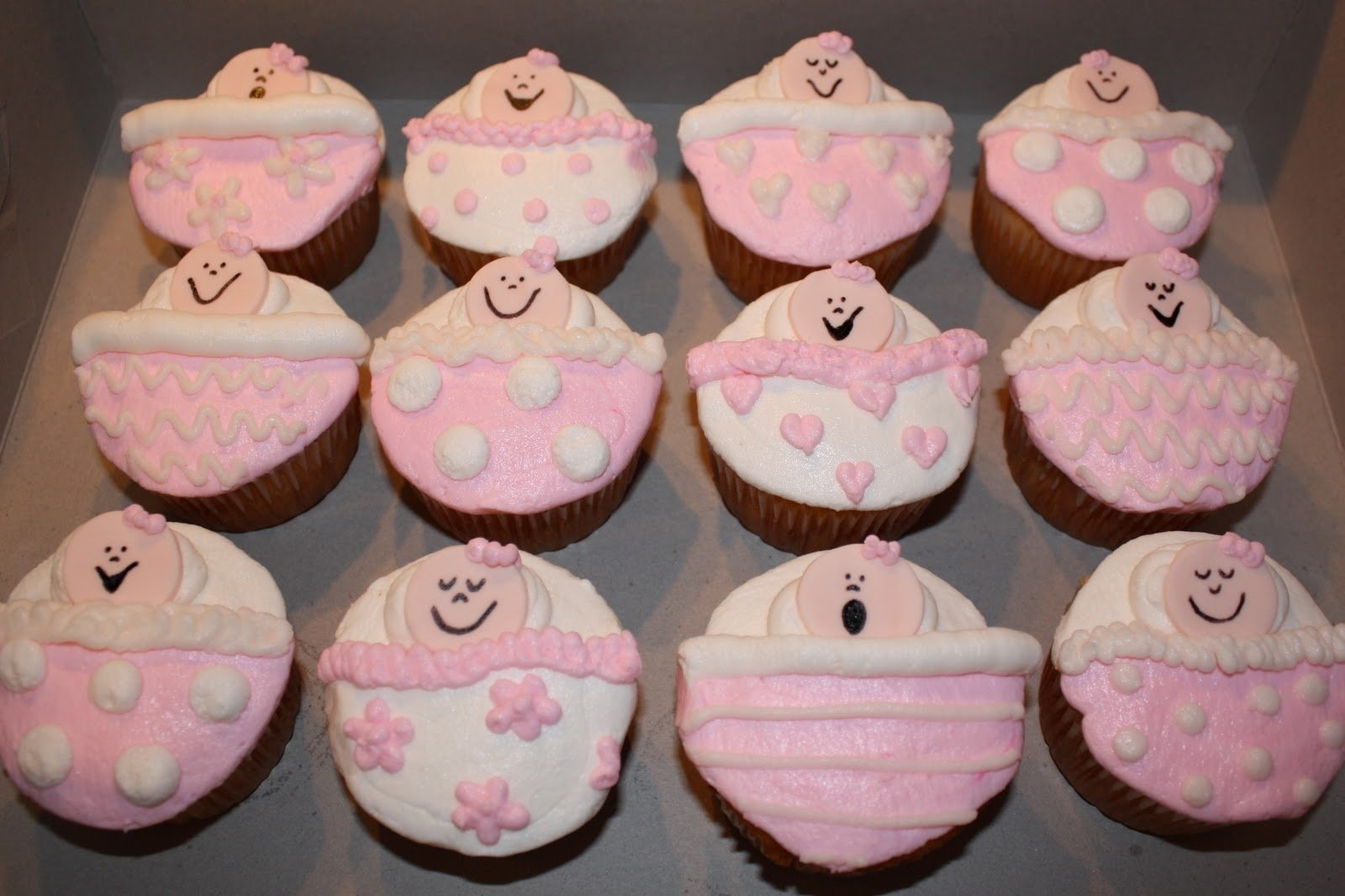 10 Lovely Cupcake Ideas For Baby Shower easy baby shower cupcakes for girls baby shower cakes 2 2021