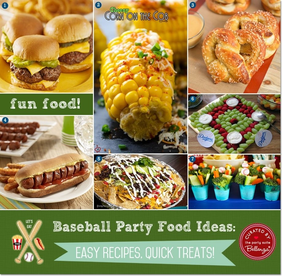 10 Spectacular Easy Party Food Ideas For Adults easy baseball party food ideas quick recipes treats 2 2020