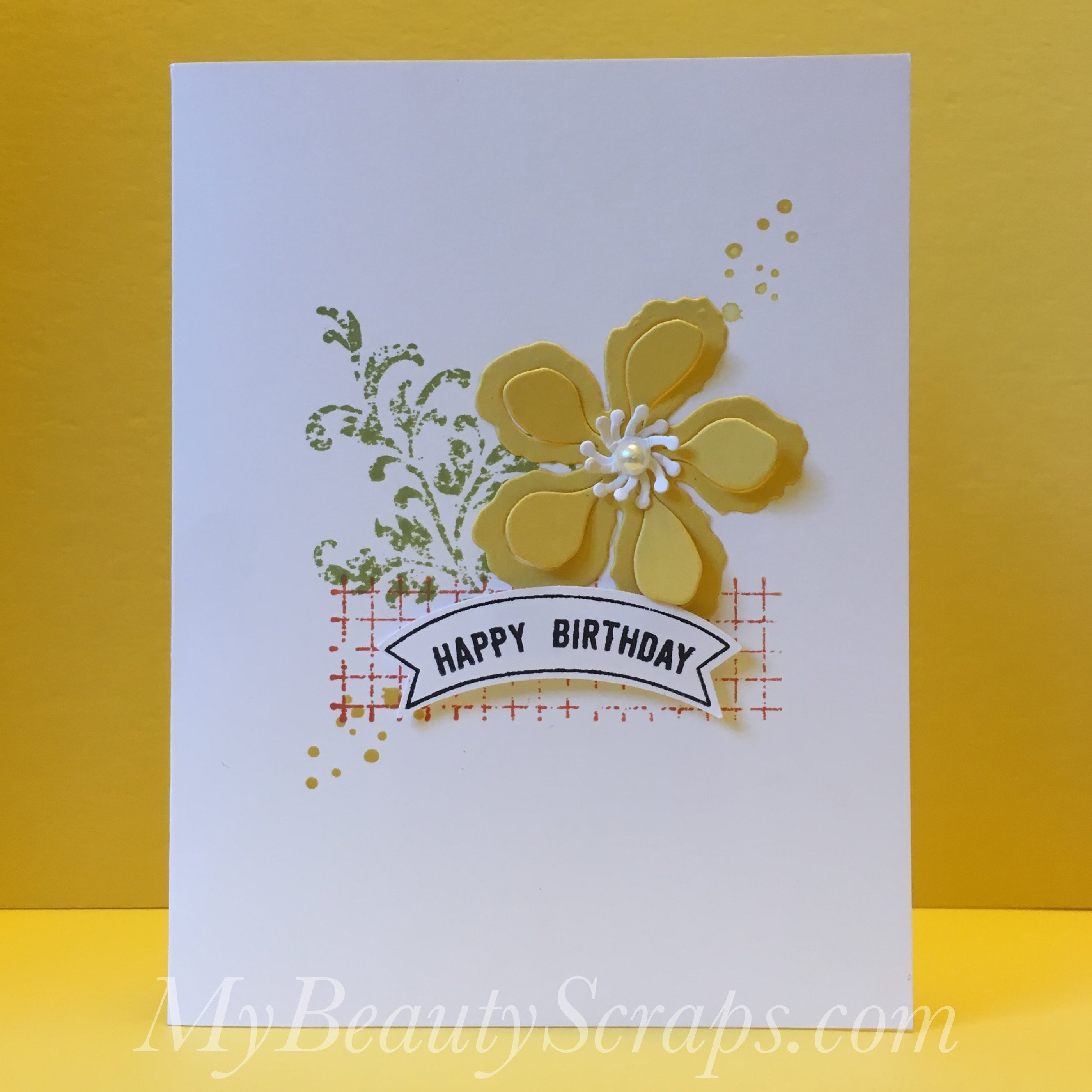 easy birthday card idea with stampin' up! timeless textures