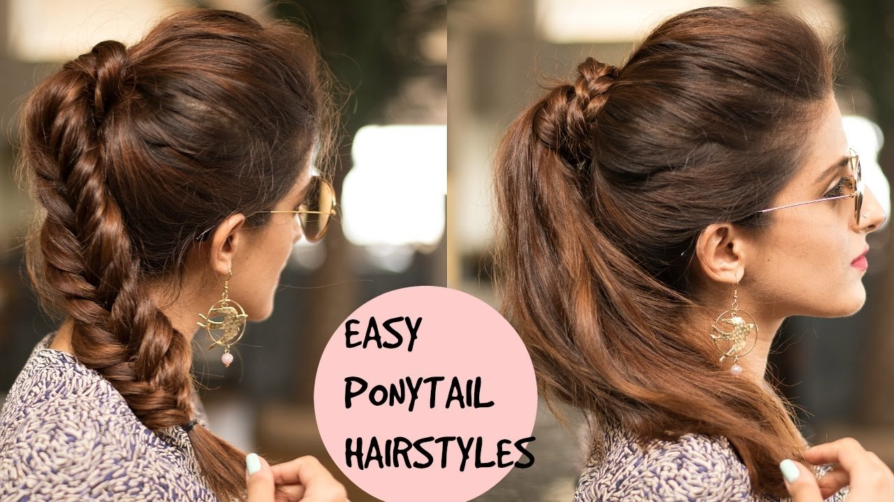 10 Fantastic Cute Ponytail Ideas For Medium Hair easy braided ponytail hairstyles for college schoolwork pouf 2021
