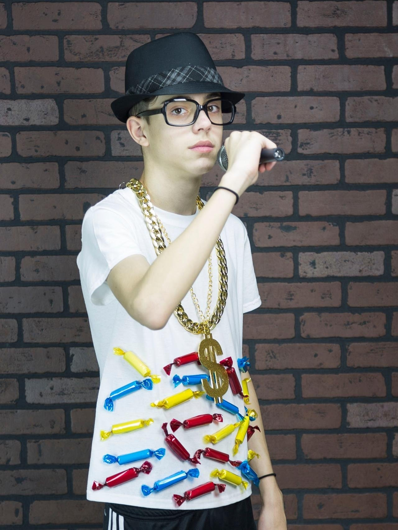 10 Awesome Boys Homemade Halloween Costume Ideas easy budget halloween costume hip hop candy rapper easy budget 3
