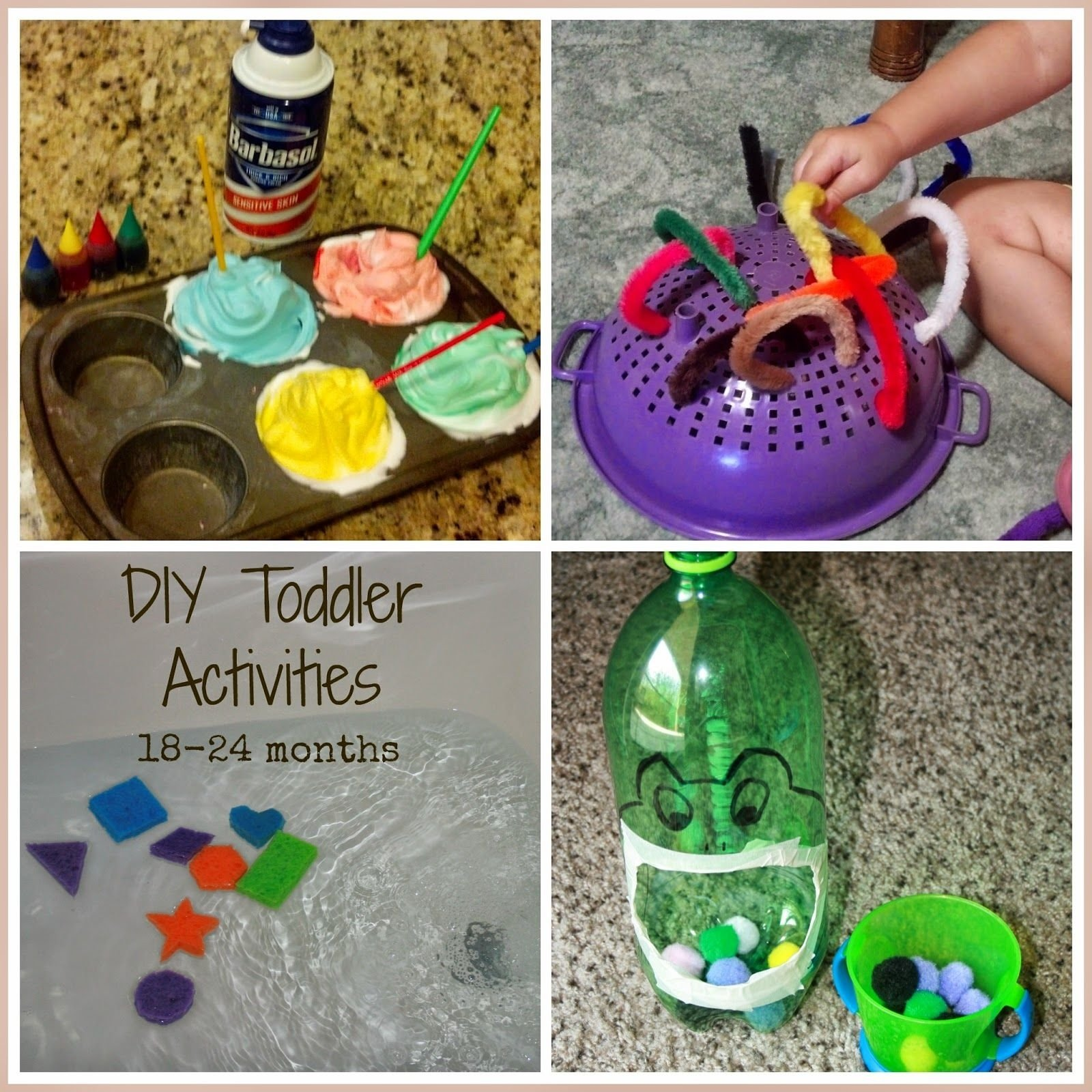 10 Awesome Fun Ideas To Do At Home easy cheap diy toddler activities includes activities to teach 2020