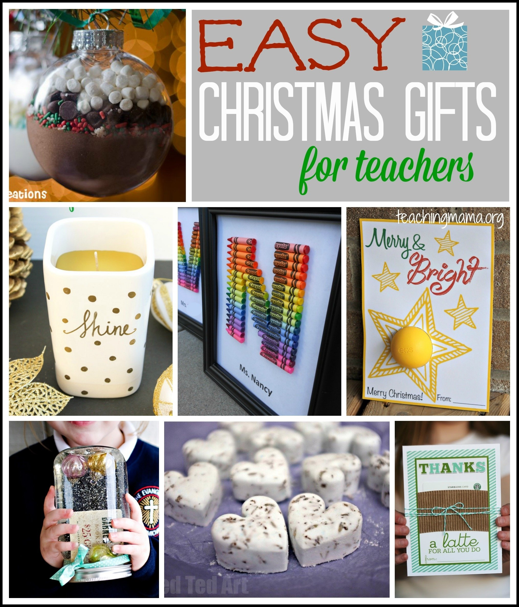 10 Fashionable Holiday Gift Ideas For Teachers easy christmas gifts for teachers 1 2021