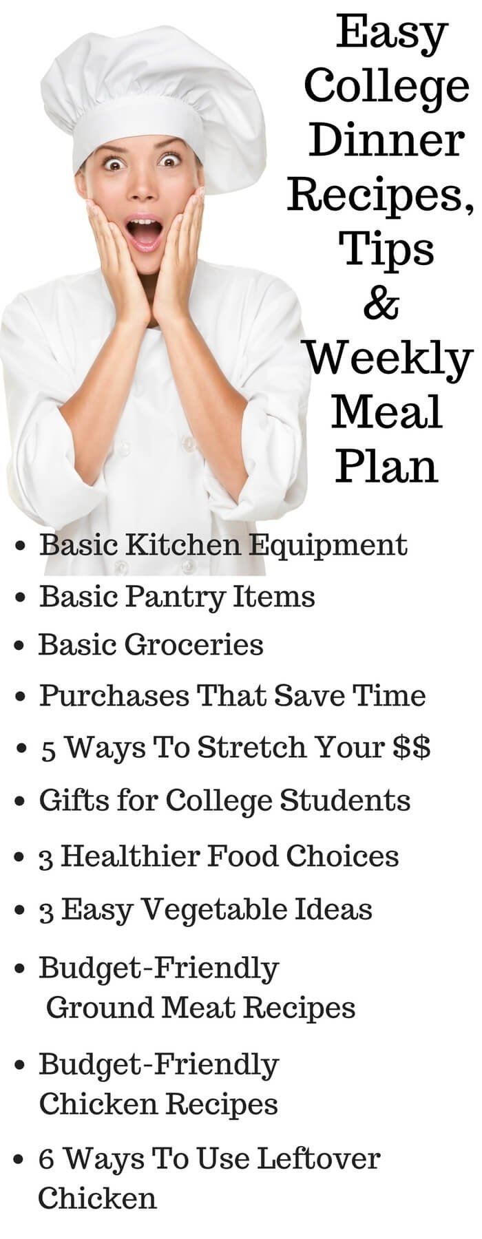 10 Trendy List Of Easy Dinner Ideas easy college dinner recipes with printable weekly meal plan and 2020