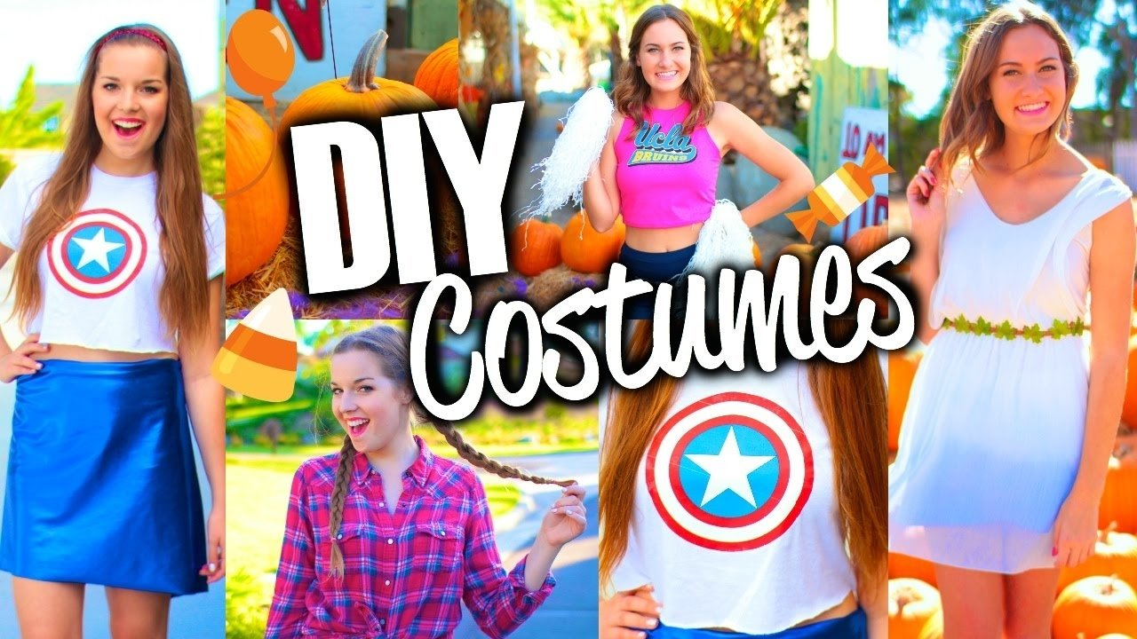 10 Unique Cute Halloween Costume Ideas For Girls easy cute diy halloween costumes for teens youtube 5