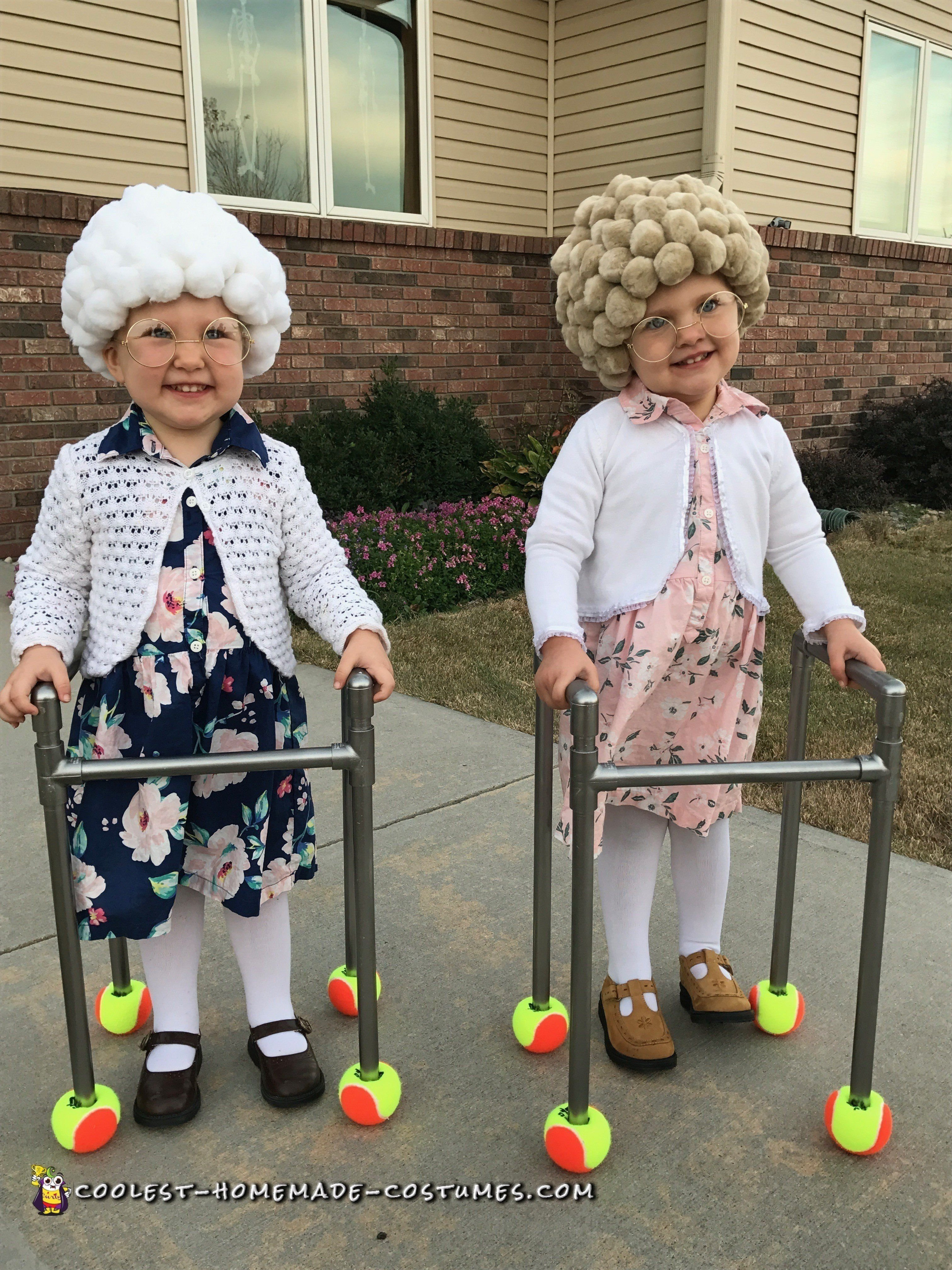 10 Attractive Old Lady Halloween Costume Ideas easy diy adorable twin old ladies homemade costumes costumes and
