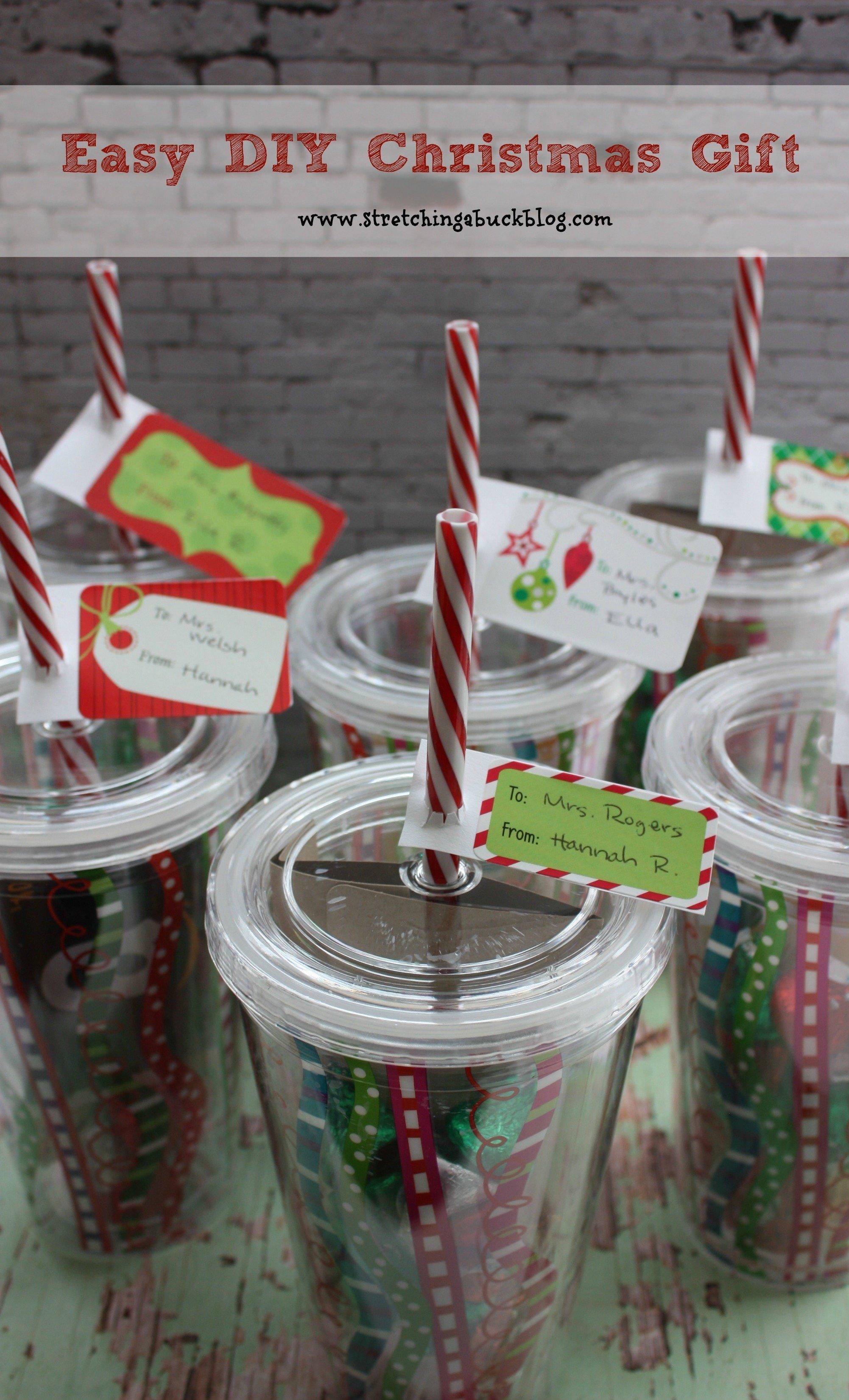 easy diy christmas gift idea for teachers, friends + more