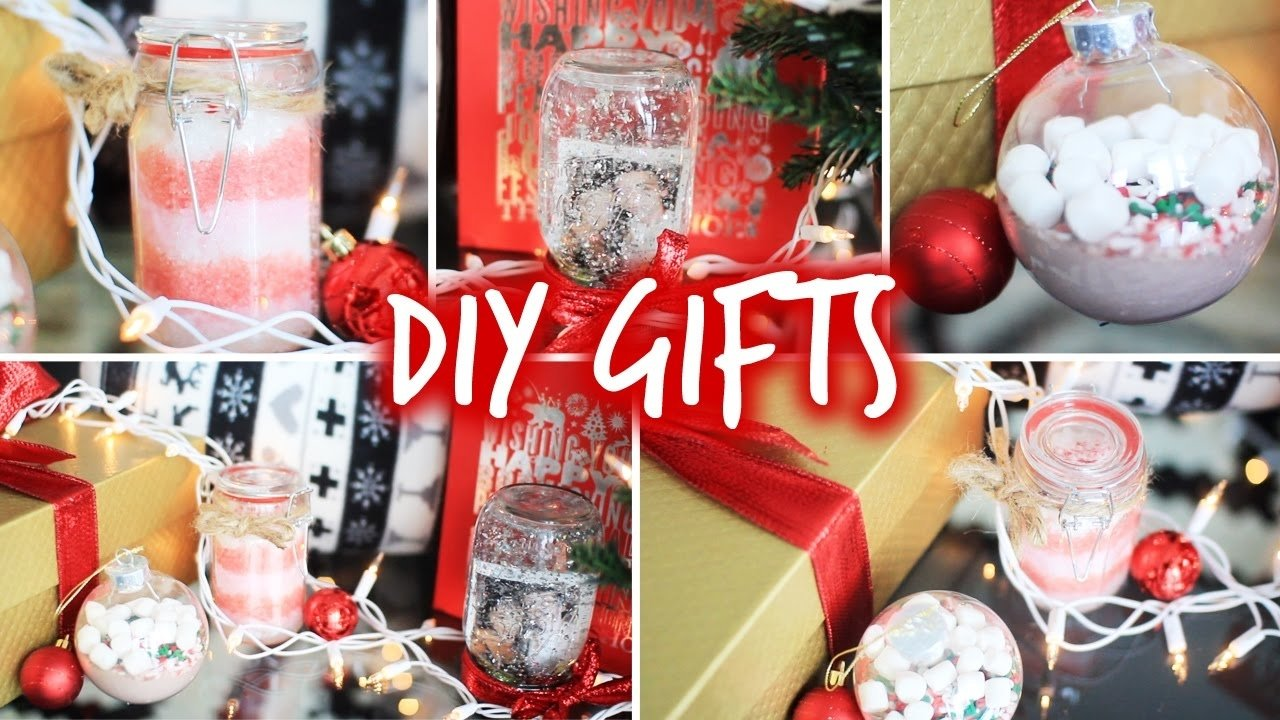10 Cute Christmas Gift Ideas For Family Members easy diy christmas gifts for friends family boyfriends youtube