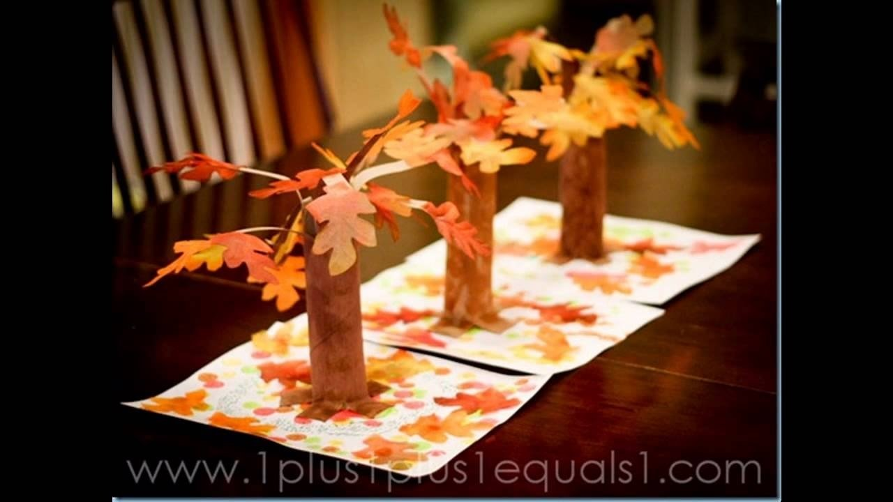 easy diy fall craft ideas for preschoolers - youtube