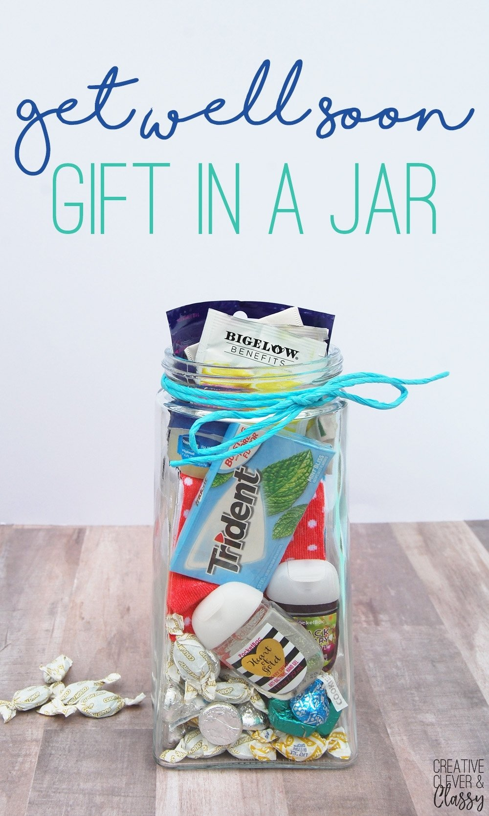 10 Awesome Get Well Soon Gift Ideas easy diy get well soon gift in a jar gift idea