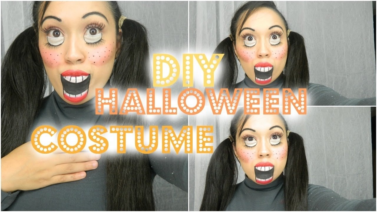 10 unique scary homemade halloween costume ideas easy diy halloween costumes creepy doll makeup tutorial youtube