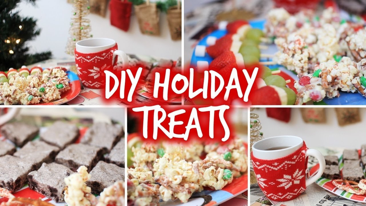 10 Attractive Christmas Treat Ideas For Kids easy diy holiday party snacks christmas treats youtube