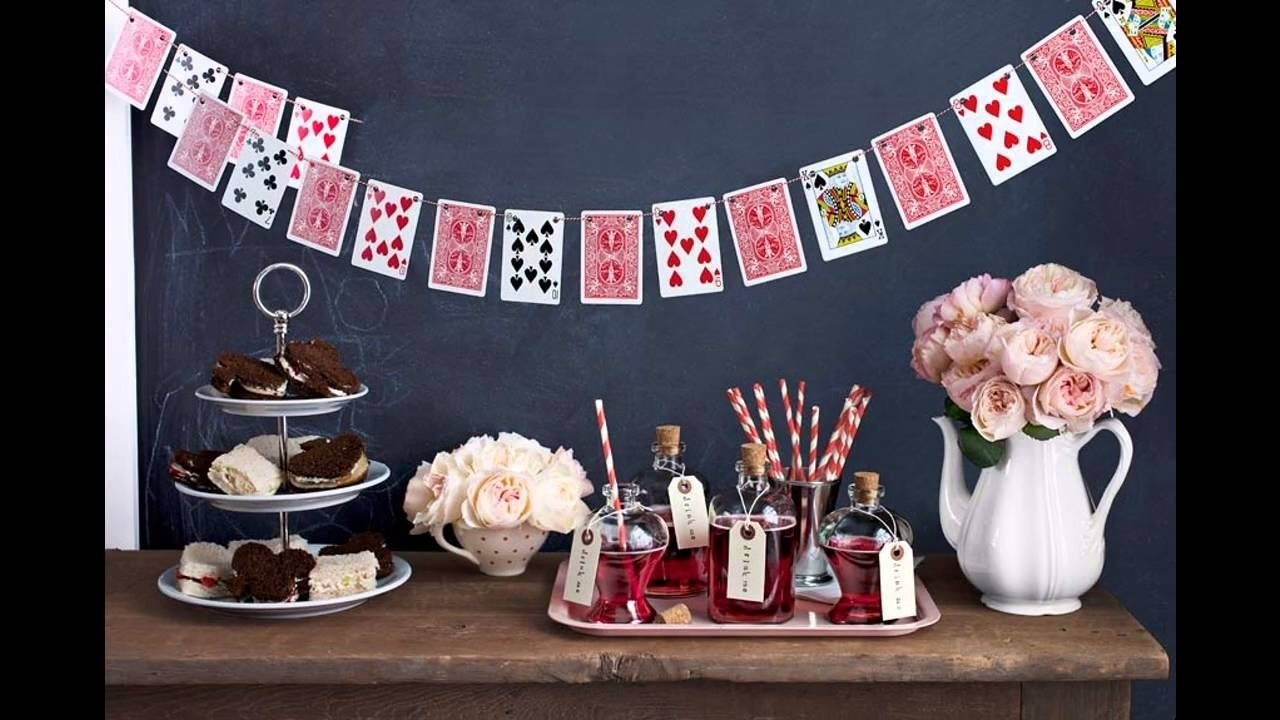 10 Stylish Alice In Wonderland Party Ideas For Adults easy diy ideas for creative alice in wonderland decorations youtube 1