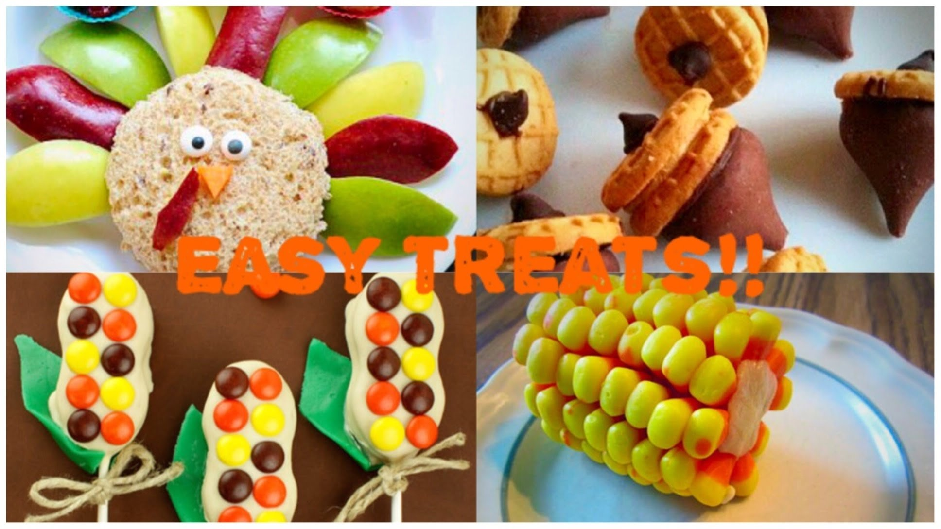 easy diy no bake thanksgiving treat ideas! (great for kids!) - youtube