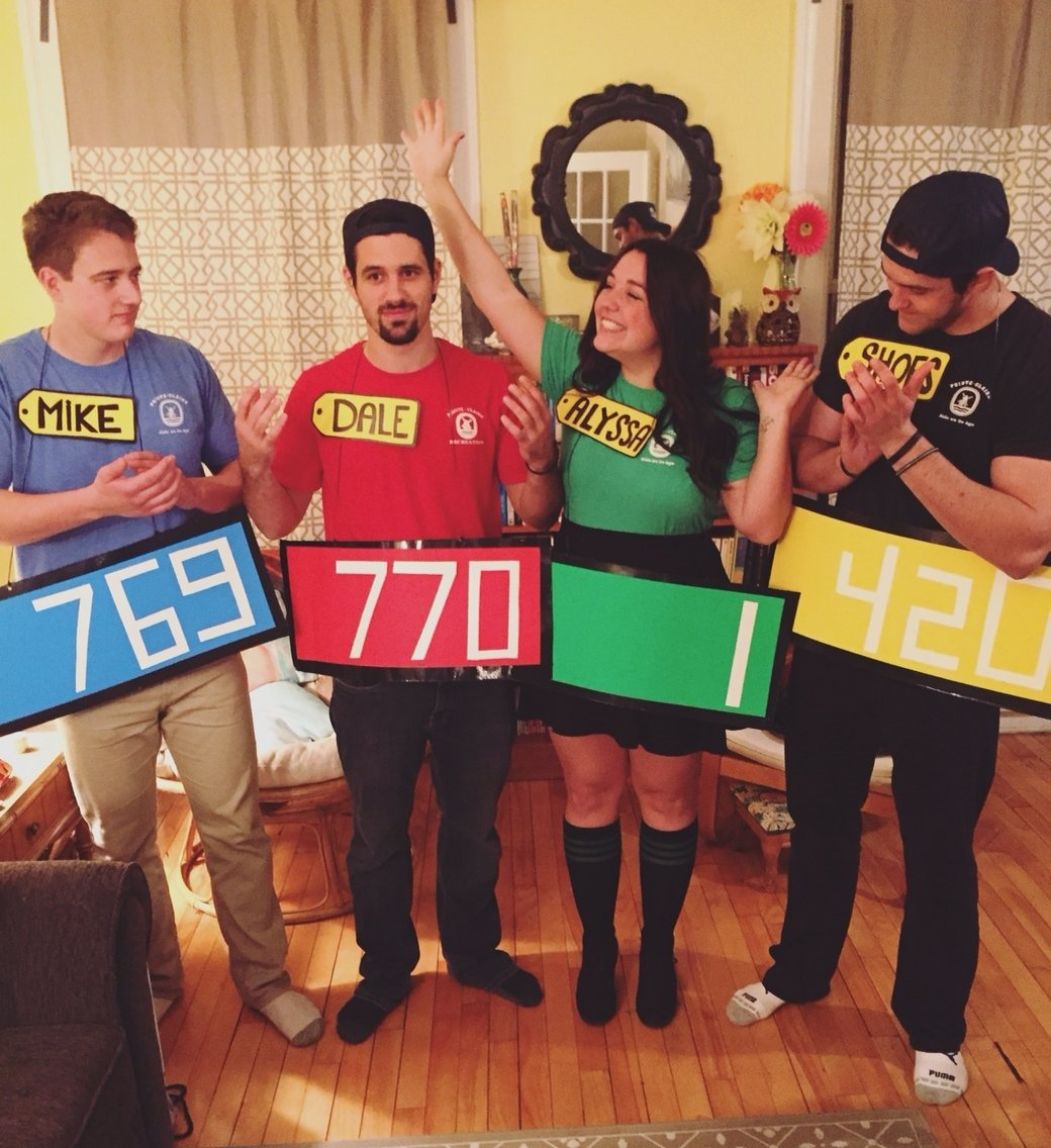 10 Famous Costume Ideas For Four People easy diy price is right group costume group costumes pinterest 1