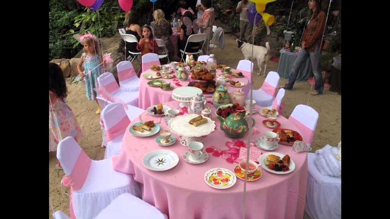 easy diy tea party ideas for kids - youtube