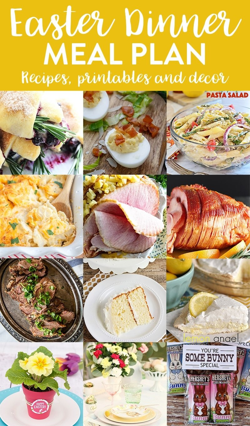 10 Wonderful Easy Easter Dinner Menu Ideas easy easter dinner meal plan and party ideas yellow bliss road 1 2020
